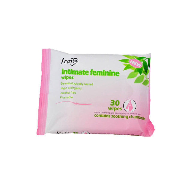 OEM Professional Factory Natural Plant Flavor Feminine Intimate Care Wet Wipes