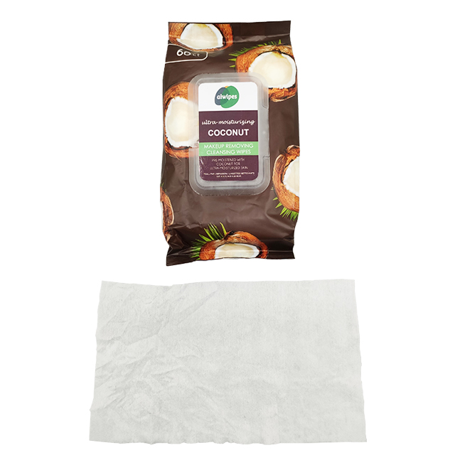 Aiwipes Makeup Remover Wipes with coconut scent