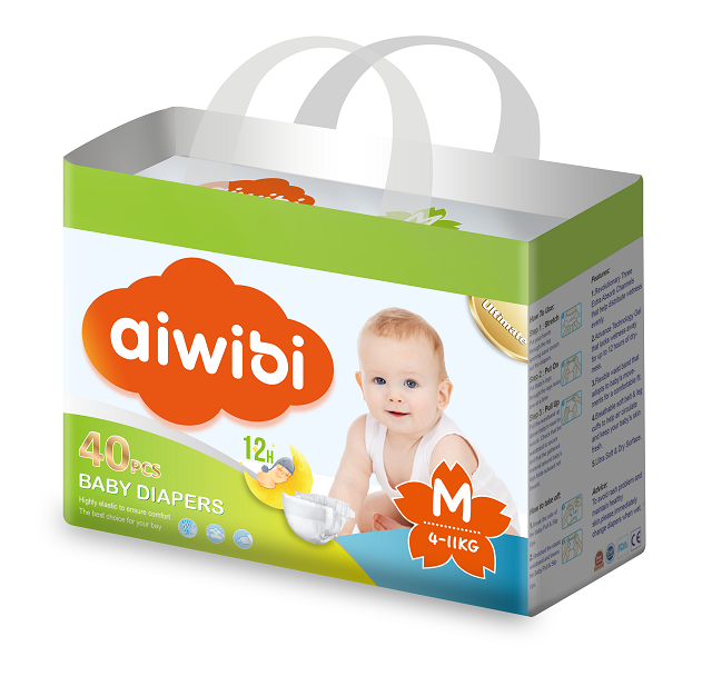 Aiwibi baby diaper factory direct waterproof nappies with breathable backsheet